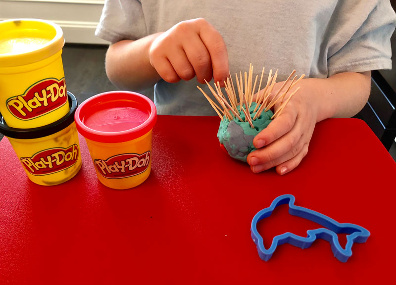 improving fine motor skills with play dough